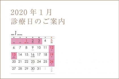 新年は1月4日(土)より診療いたします。 2020年もどうぞよろしくお願いいたします。